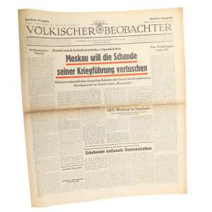 "German newspaper ""WOLKISCHER BEOBACHTER"", 1942"
