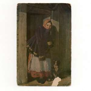 "Card ""At the gate"", 1930"