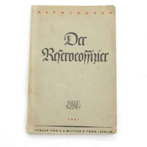 "The book ""Handbook of German officer"", 1941"