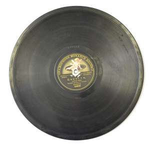 Vinyl gramophone, a military orchestra in London
