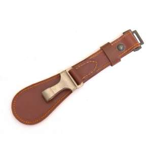 Leather element of the belt to fasten dagger or sword