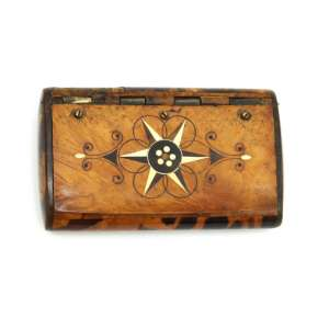 Snuffbox officer REEF made of Karelian birch. NEW PRICE!