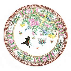The decorative plate with Chinese story