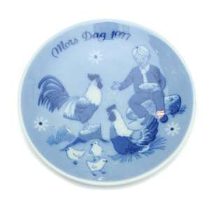 "Wall plate ""mother's Day 1977"""