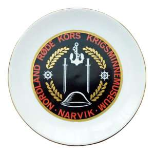"A memorial plate ""to the Heroes of Narvik"""