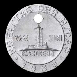 The memorable sign of the Congress of the NSDAP in the district Soden, 1938