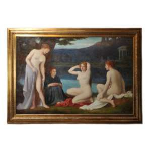 "The painting ""the virgin after bathing"", Neoclassicism"