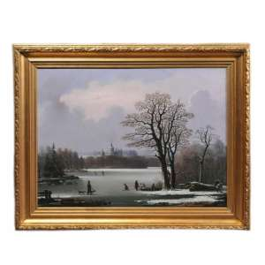 "The painting ""Winter landscape"""