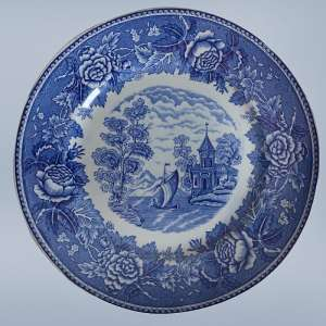 Decorative plate with a rustic plot