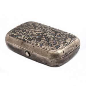 "A silver snuff-box with the inscription ""the Caucasus"""