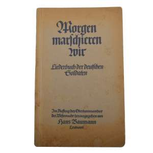 The book is a song book for soldiers of the Wehrmacht