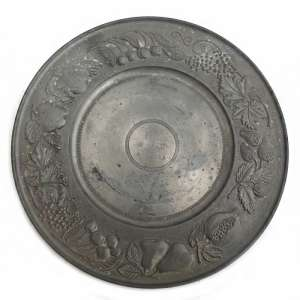 The brass plate with a pattern