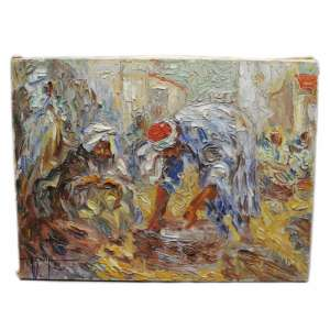 "The painting ""Market in Algeria"" post-impressionism"