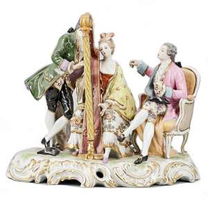 "Porcelain sculpture ""Big musical group"""