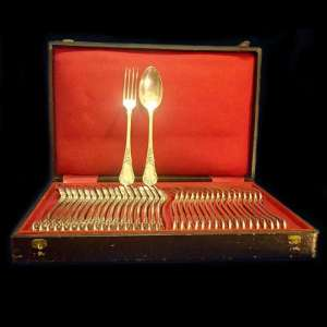 A set of silver Cutlery