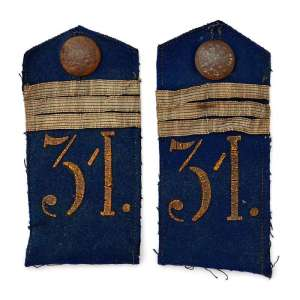 A pair of shoulder straps of non-commissioned officer of the 2nd brigade of the 31st infantry division of RIA