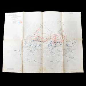 Map of military operations during the Russo-Japanese war