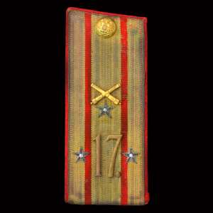 Greatcoat the shoulder straps of the Lieutenant Colonel of the 17th artillery brigade RIA