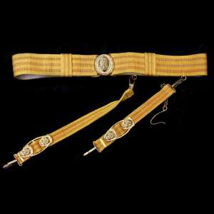 Front belt-scarf Admiral of the Navy of the USSR of the sample of 1941/47 gg