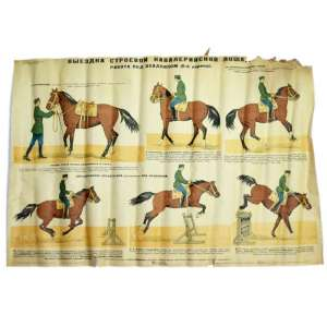 "Poster ""Dressage horses cavalry drill"", 1935"