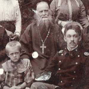 Pre-revolutionary photos of a Russian priest with a family