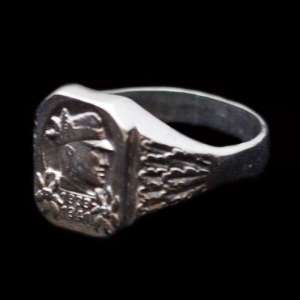 The ring with the symbolism of the mountain Rangers of the Wehrmacht, a copy of
