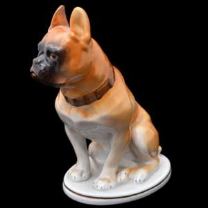 "Porcelain sculpture ""Bulldog"", factory"