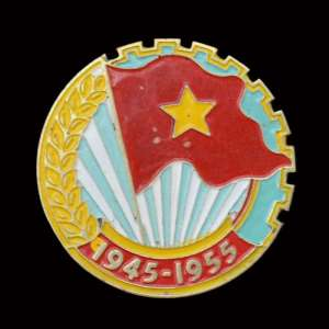 "Badge ""10 years of the liberation of China"""