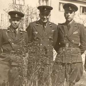 "Photo of officers of the tank troops of the SA in the ""Zhukovsky"" tunics"