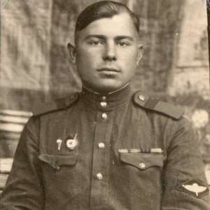 Photo staff Sergeant of the airborne troops of the USSR in the form of 1943