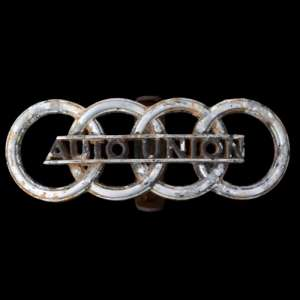 "The emblem of the car of the group ""Auto Union"""