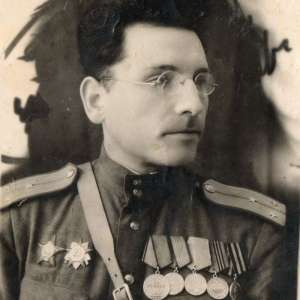 Photo of Lieutenant of the red army with military awards