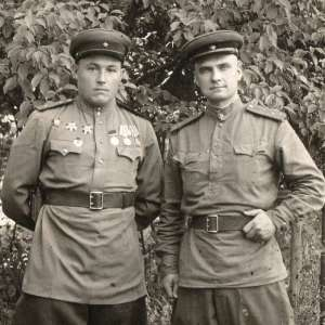 Photo of officers of artillery of the red army with military awards