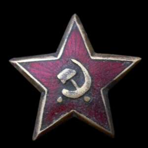 Early star on the cap of the red army