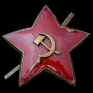 36mm star of the specimen in 1936 on the cap or the budenovka commanders of the red army