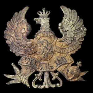 Badge a hat officer of the 3rd company of the 2nd regiment of artillery from