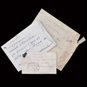 Lot of empty envelopes from military letters from the front