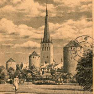 A couple of letters on postcards with the views of Tallinn