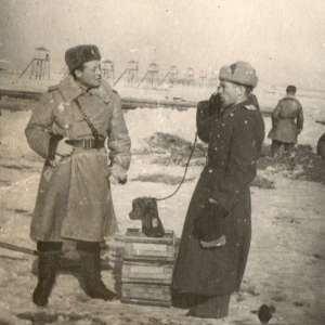 Photos officers guard one of the camps of the NKVD (?)