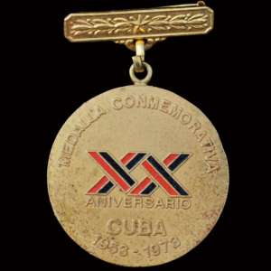 Medal in memory of the 20th anniversary of the Cuban revolution