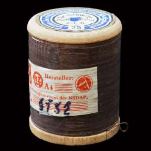 Spool of brown thread for the NSDAP