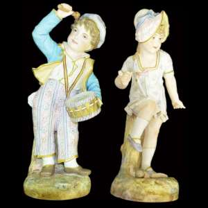 "Pair of figurines ""Children"""