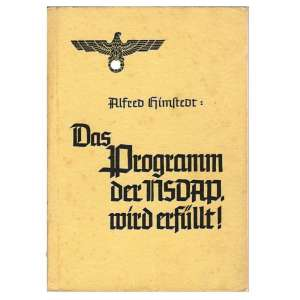 "The brochure ""Programme of the NSDAP executed,"" 1939"