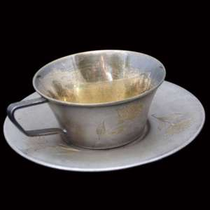 Silver Cup with saucer