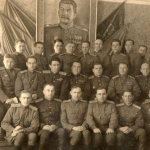 Group photo of officers of the red army