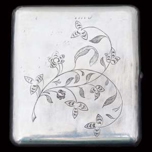 Cigarette case Russian silver, Side