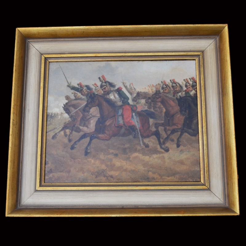 "The painting ""Attack cuirassiers"""