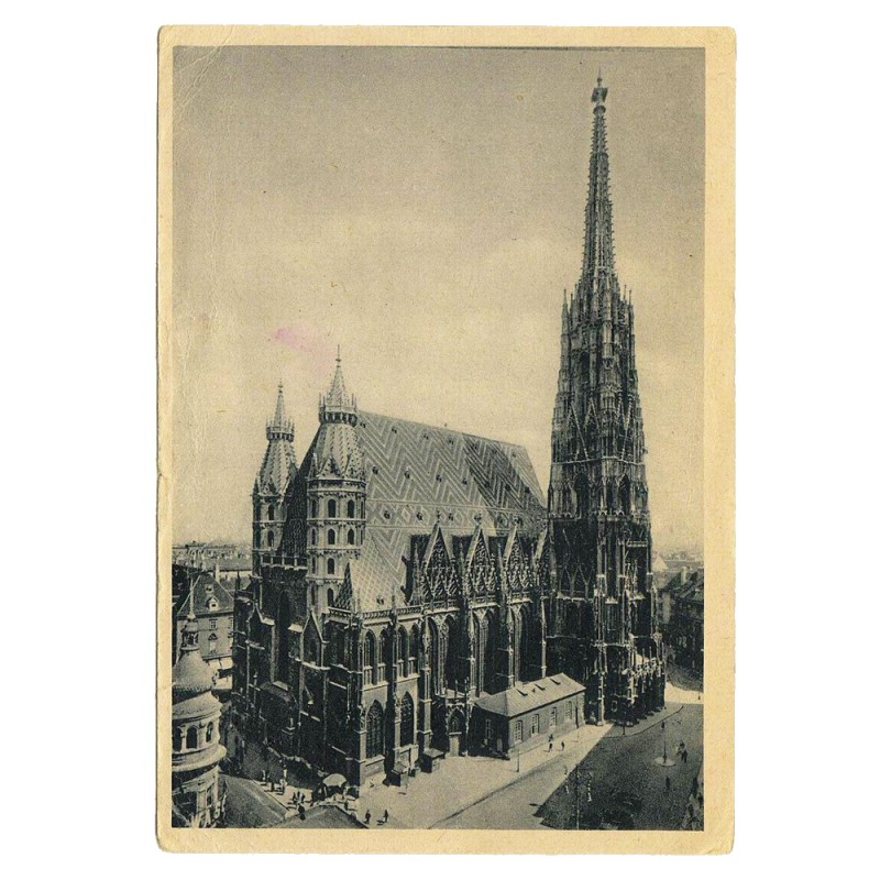 "Postcard ""St. Stephen's Cathedral"", 1944"