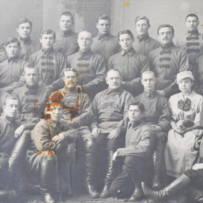 Rare photos of the soldiers and commanders of the 63rd infantry regiment of the red army Shumsky
