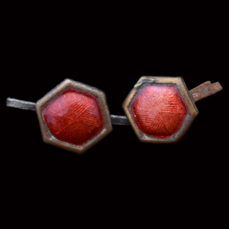 A pair of hexagons lavalier nkps sample, 1932